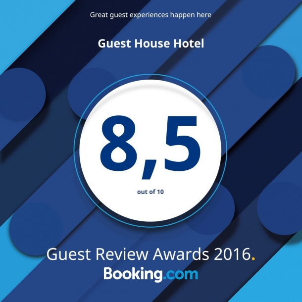 Награда Guest Review Awards от Booking.com